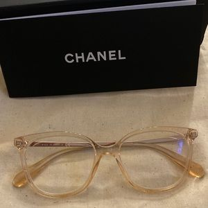 Chanel 3386 clear pink butterfly eyeglasses